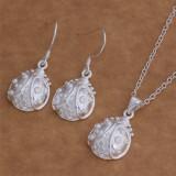 Set Argint 925 - lantisor si cercei - Buburuza - Set bijuterii argint