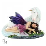 Statuetă zână și unicorn Euone - Sculptura
