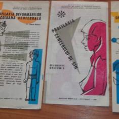 Lot 15 pliante/ brosuri medicale perioada comunista Ministerul Sanatatii