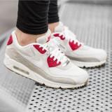 Adidasi dama Nike Air Max 90 Qs din piele 100% autentici, Marime: 36, Culoare: Bej
