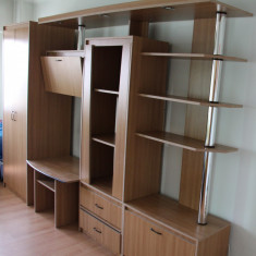 Biblioteca, suport TV incorporat; Comoda; Dulap de sufragerie cu sifonier - Biblioteca living