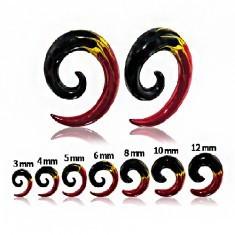 Expander pentru ureche - spirală în trei culori - Piercing ureche