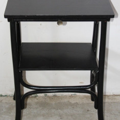 Masuta vintage stil Thonet cu blat retractabil; Masa cafea; Masa decor - Mobilier, Mese si seturi de masa, 1900 - 1949