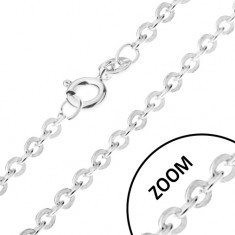 Lănțișor cu elemente de legătură unite perpendicular, argint 925, 1, 4 mm - Lantisor aur