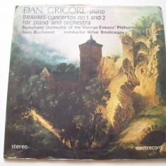 Disc vinil BRAHMS - Concerte Nr. 1 si 2 (Dan Grigore-pian)(ST - ECE 02897/0289) - Muzica Clasica electrecord