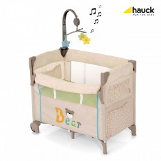 Pat Bebelusi Dream'n Care Center - Bear - Patut pliant bebelusi Hauck, 0-6 luni, 120x60cm