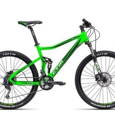 Biciclete Full Suspension CTM Revox, 2016, cadru ML, verde mat reflectorizant / negru Cod Produs: 035.20 - Mountain Bike