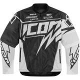 Geaca moto textil Icon Hooligan Spaztyk, alb Cod Produs: 28202967PE - Imbracaminte moto