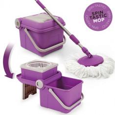 Mop Spin Tastic şi Găleată Pliabilă fără Pedală - Aspirator cu Spalare