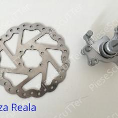 Etrier Complet Frana Fata + Disc Frana 140mm Bicicleta
