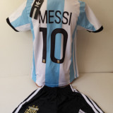 ECHIPAMENTE SPORTIVE COPII ARGENTINA MESSI COMPLEU FOTBAL marimea 164 - Set echipament fotbal, Marime: Alta