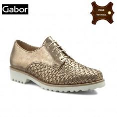 Pantofi dama piele naturala GABOR auriu metalic (Marime: 36) - Pantof dama