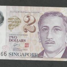 SINGAPORE 2 DOLARI DOLLARS 2011 [1] P-46e, Polymer - bancnota asia