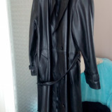 Palton piele Cordoba - Palton barbati, Marime: 54, Culoare: Negru