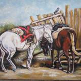 Pictura cai semnat Cimpoesu. - Pictor roman, Istorice, Ulei, Realism
