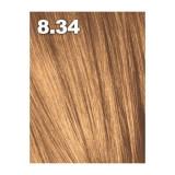 Vopsea de par Indola Profession 8.34 Blond Deschis Auriu Aramiu, 60 ml