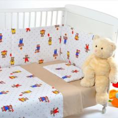 BebeDeco – Lenjerie patut 3 piese MARTINEL LA JOACA - Lenjerie pat copii
