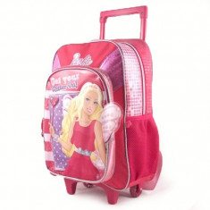 Troler Barbie pentru fetite - Rucsac Copii