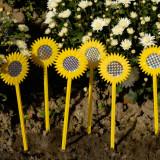 6 sperietori pasari in forma de floarea soarelui
