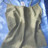 COMPLEU DE VARA, top si pantaloni 3/4, khaki, marimea XXL, nou!, In
