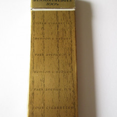 RARITATE! PACHET COLECTIE TIGARI AMERICANE BENSON & HEDGES ED.LIM./PROMO ANII 80 - Pachet tigari