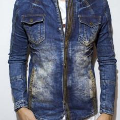 Geaca de blugi tip Zara Man - jacheta blugi cu captuseala geaca slim fit cod 55 - Geaca barbati, Marime: S, M, L, XL, XXL, Culoare: Din imagine