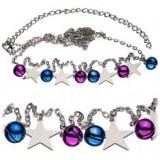 Lanț pentru talie - clopoţei coloraţi şi stele - Piercing buric