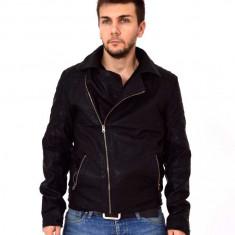 Geaca barbateasca piele eco si guler textil - Geaca barbati, Marime: M, XL