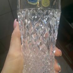 Set 5 pahare cristal Bohemia realizate manual in Cehia