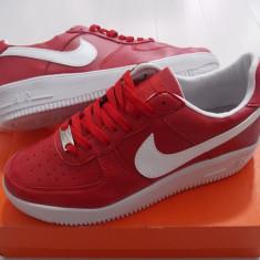 Adidasi Nike Air Force 3 - Adidasi barbati Nike, Marime: 40, 41, 42, 43, 44, Culoare: Rosu, Piele sintetica