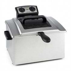 Klarstein QuickPro XXL 3000, 3000W, 5L, friteuză, oțel inoxidabil, 1, 5 kg, cronometru