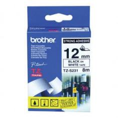 Banda laminata Brother TZES231 12mm Black on White