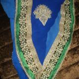 Saree indian, Marime: 39, Culoare: Albastru