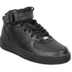 ADIDASI Ghete Nike Air Force negru DAMA - Adidasi dama Nike, Marime: 36, 37, 38, 39, 40, 41, 42, 43, 44, Culoare: Din imagine, Piele sintetica
