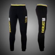 Pantaloni de trening jogging Everlast Originali - Trening barbati Everlast, Marime: L, Culoare: Negru, Bumbac