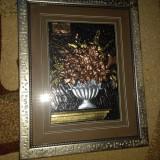 Tablou relief flori - Metal/Fonta