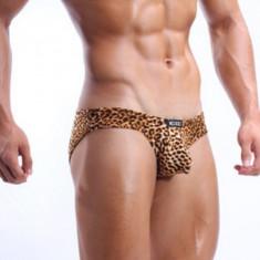 Chiloti Barbati ChilotTanga String Leopard Model Push Up Cockoon Sexy Jockstrap