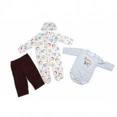 Haine copii - Carter's Set hainute 4 piese pentru bebelusi Nice Dino