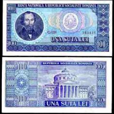 Bancnote Romanesti - Romania 1966 - 100 lei UNC