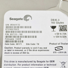 Hard Disk Seagate, 100-199 GB, Rotatii: 7200, IDE - HDD IDE 160Gb Seagate ST3160215ACE