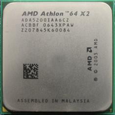 Procesor PC AMD, AMD, AMD Athlon, Numar nuclee: 2, 2.5-3.0 GHz, AM2 - Procesor Amd Athlon 64 x2 5200+dual core 2.6ghz, Windsor, Cache 2x1MB, Am2