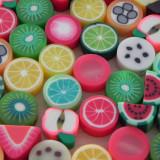 10buc Margele polymer clay cu fructe diverse culori