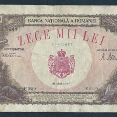 Bancnote Romanesti, An: 1945 - ROMANIA 10000 10.000 LEI 18 MAI 1945 [22]