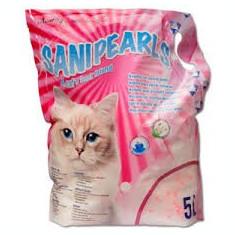 Pisica - Asternut igienic din silicat, Maxima SaniPearls, perle roz, 5 L