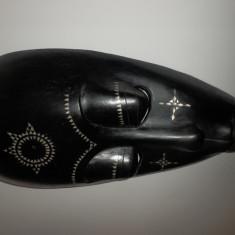 Arta din Africa - Masca africana din lemn(decorativ abanos mahon sculptura arta pictura salon)