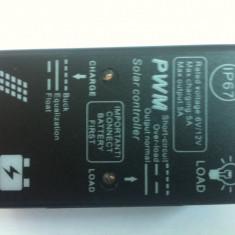 Regulator/Controller Solar Fotovoltaic, panouri, celule solare - 5A/12V