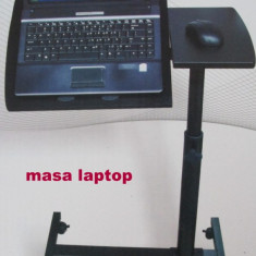 Mini Birou Multifunctionala MASA Suport LAPTOP rotile ERGONOMICA - Masa Laptop