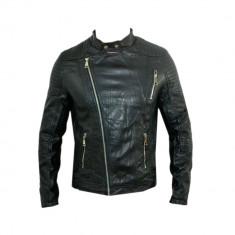 Geaca tip Zara Man, Japan, Piele Eco, Slim, Toate Masurile D365 - Geaca barbati, Marime: S, L, XL, Culoare: Din imagine