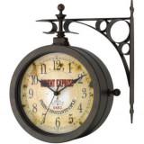 Ceas de perete si termometru NOSTALGIA