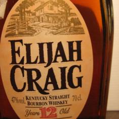 Whisky- R A R E Whiskey elijah craig, 12 years, boubon, cl.70 gr. 47 U.S.A.